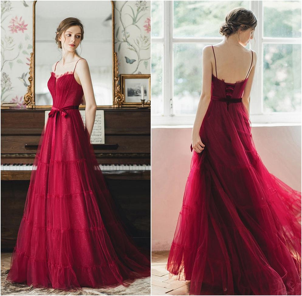 robe de mariée rubis bohème doublure pailleté