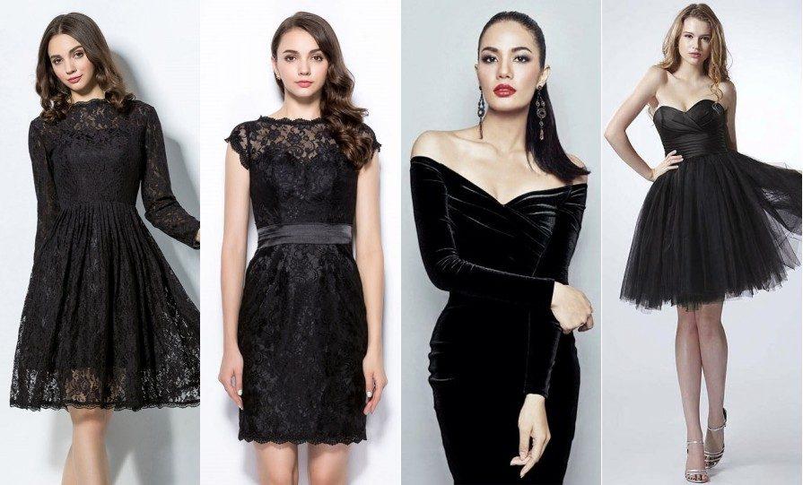 Un peu d'inspiration pour les mystérieuses robes de demoiselle d'honneur noires